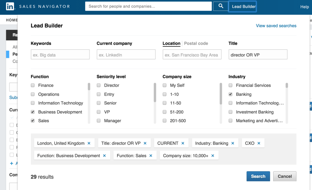 Outbound Sales: Using Linkedin Sales Navigator