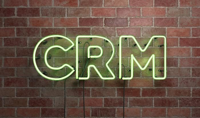 CRM neon sign