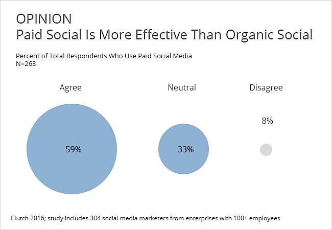 paid vs. organic social media