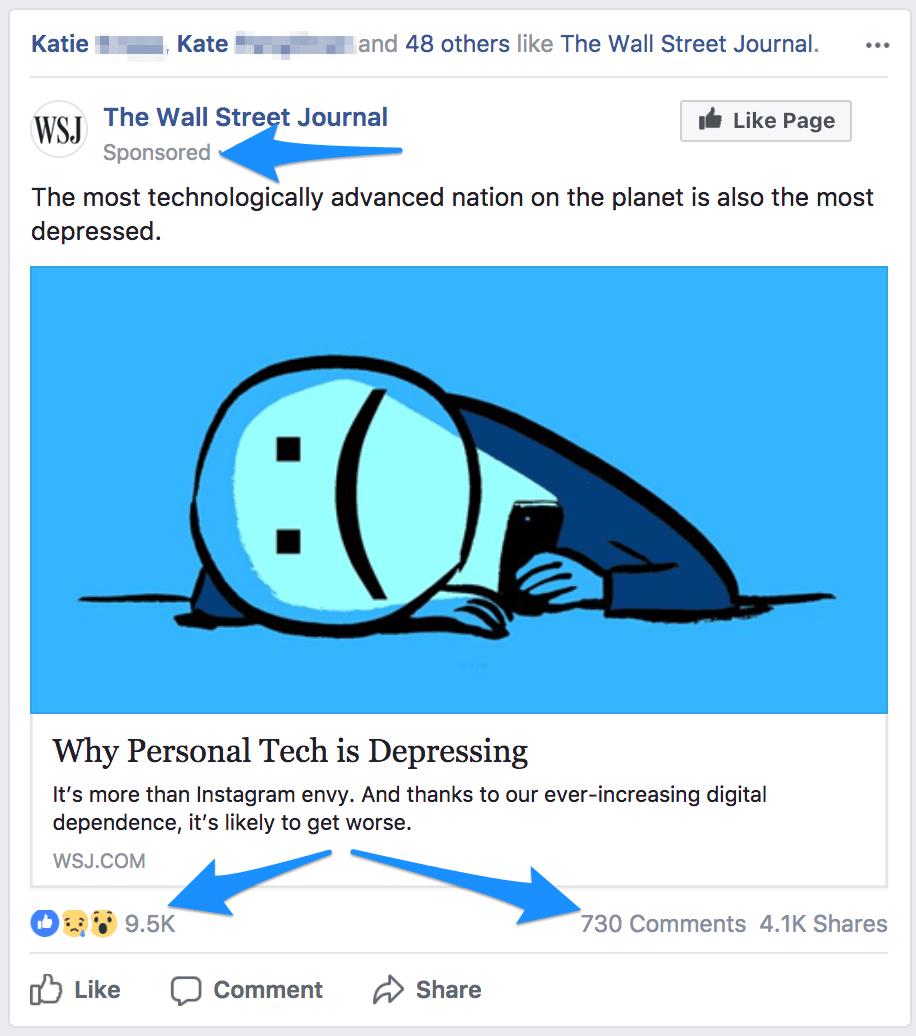 sponsored facebook post