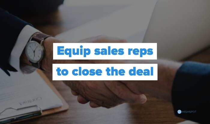 Equip sales teams