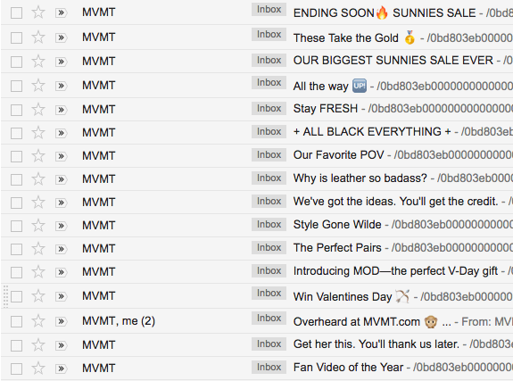 MVMT creative subject lines
