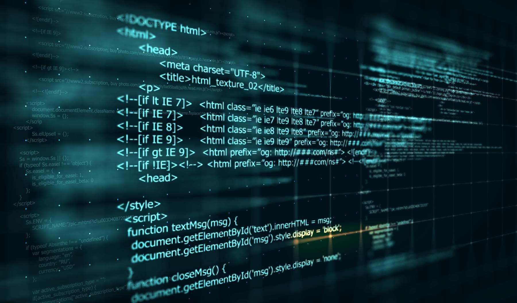 Code, HTML web programming background