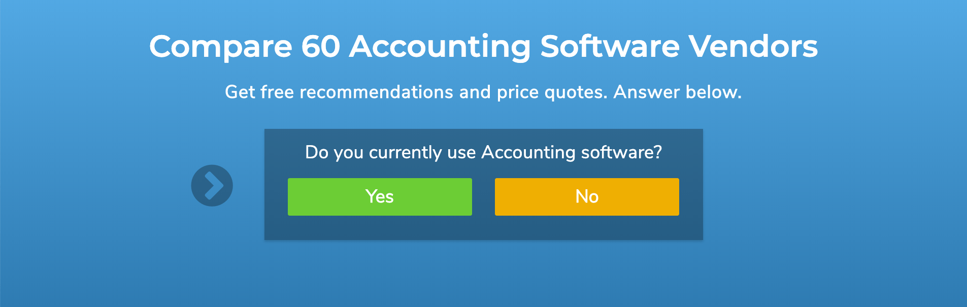 accounting product selection tool