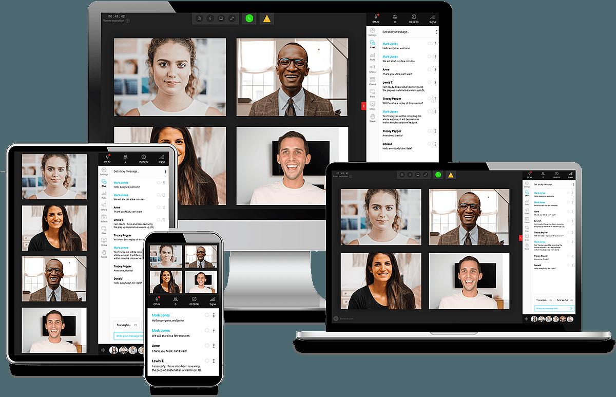 join a webinar from multiple devices with webinarjam.
