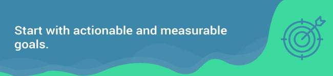 actionable and measurable