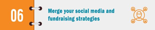 merge social media and fundraising strategies