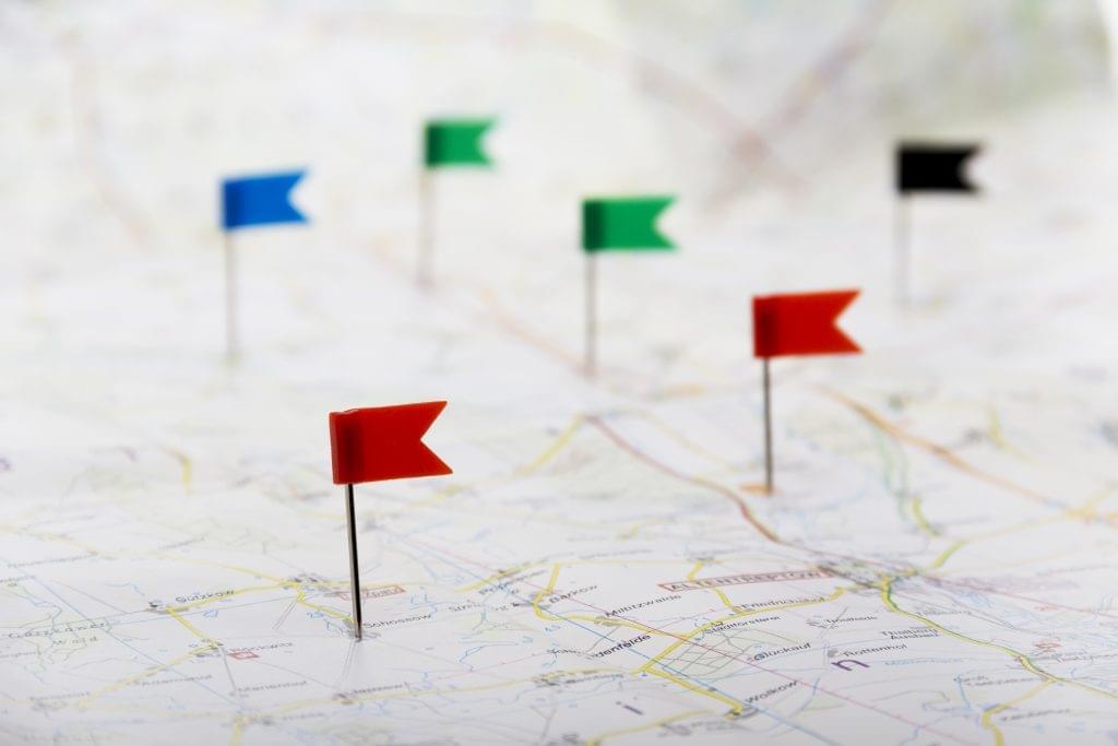 map sales routes