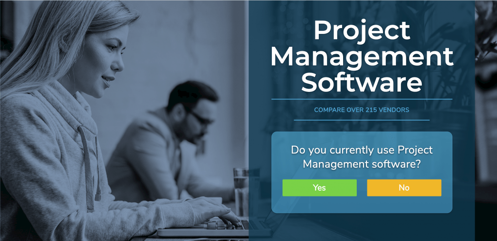 Banner that links to the project management software page.