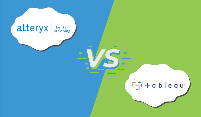 "The logos for Alteryx and Tableau with ""vs"" in the middle."