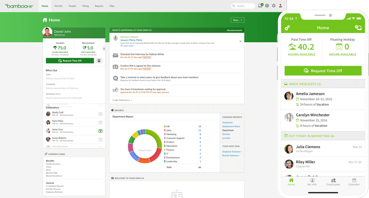 BambooHR Desktop and Mobile View