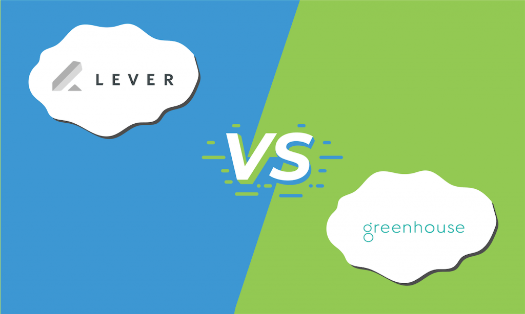 "A graphic showing the logos for Lever and Greenhouse with ""vs"" between them."