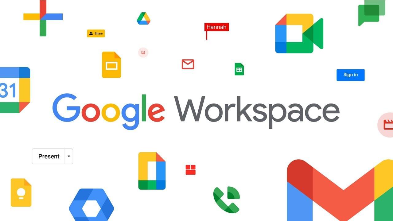 Google Workspace apps including docs, sheets, and slides