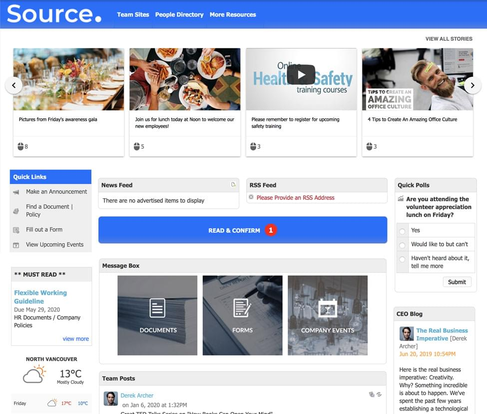 Desktop view of Source by IC Thrive SharePoint Alternative