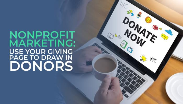 increase donors with a giving page.