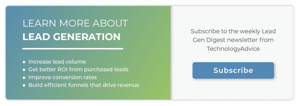 Subscribe to the Lead Gen Digest newsletter