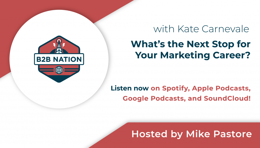 B2B Nation - What's the next stop for your marketing career?