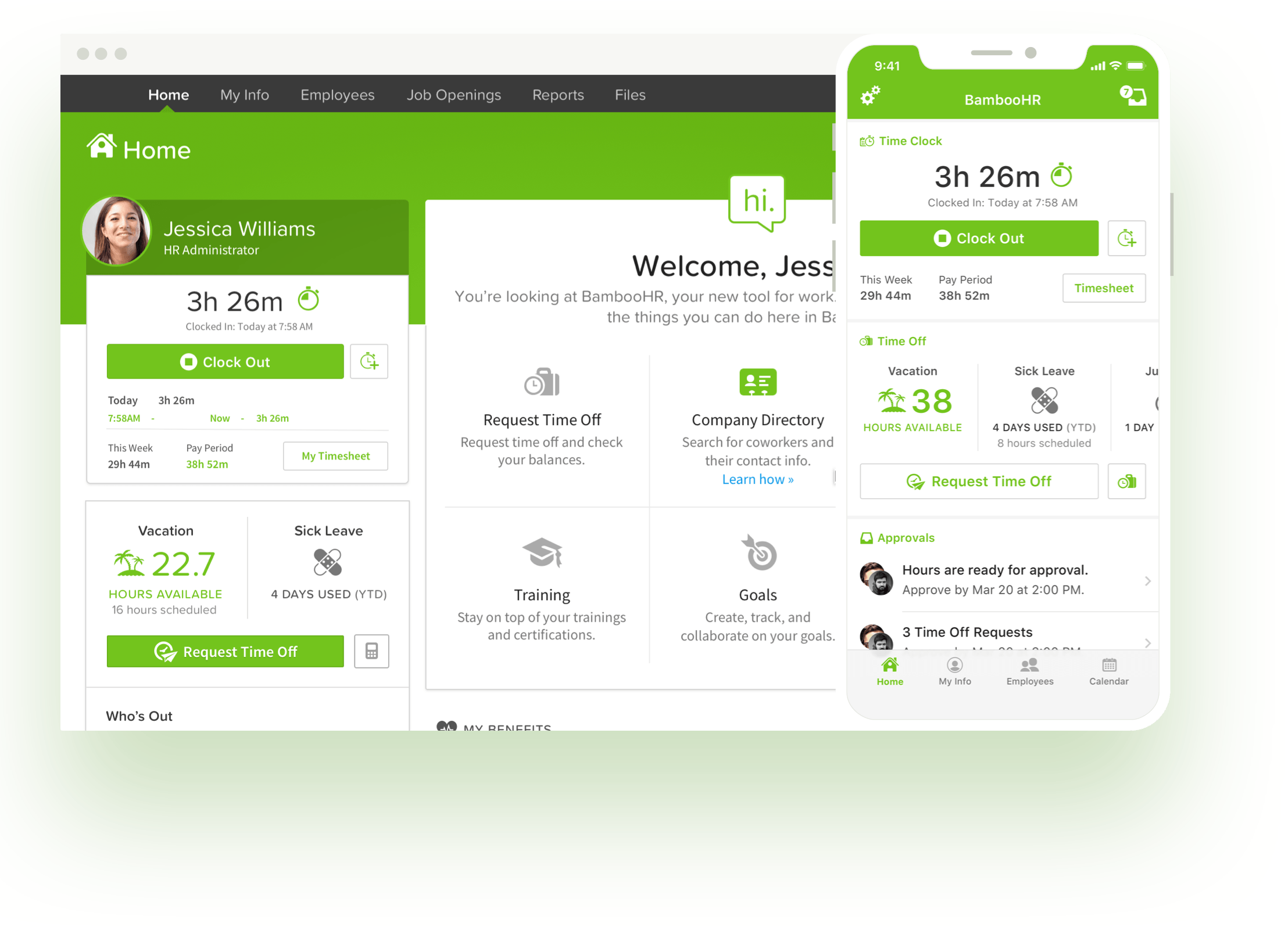 bamboohr time tracking dashboard.