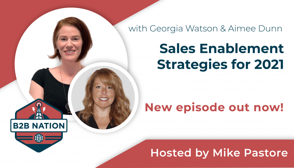 Sales enablement strategies for 2021.