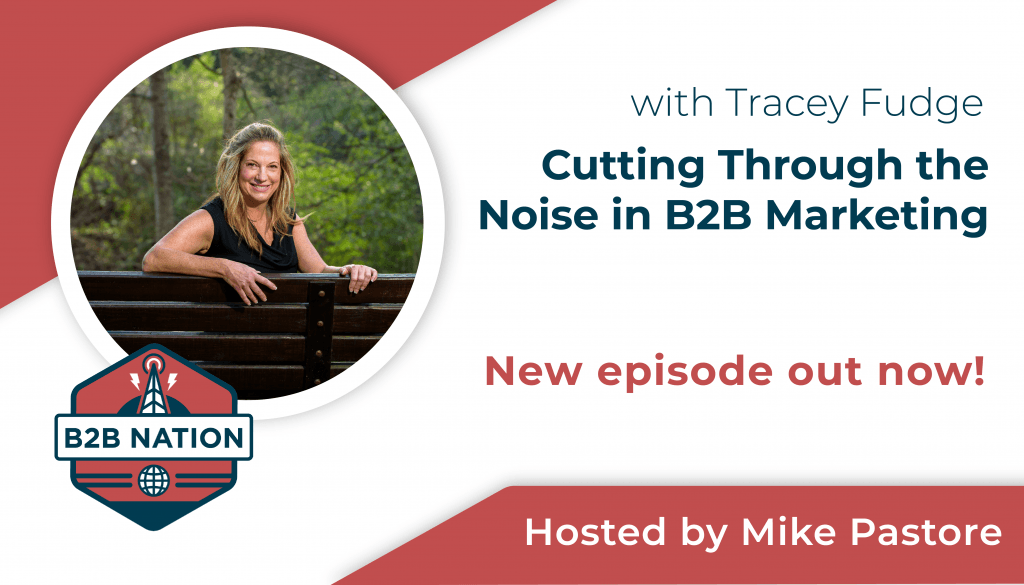 Cutting through the noise in B2B marketing with Tracey Fudge.