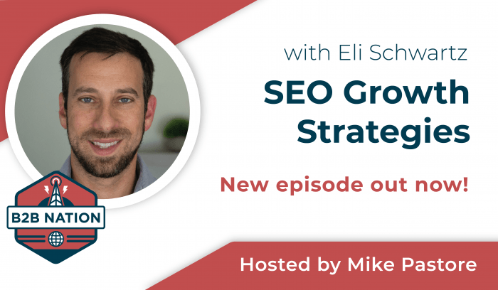 SEO growth strategies with Eli Schwartz.