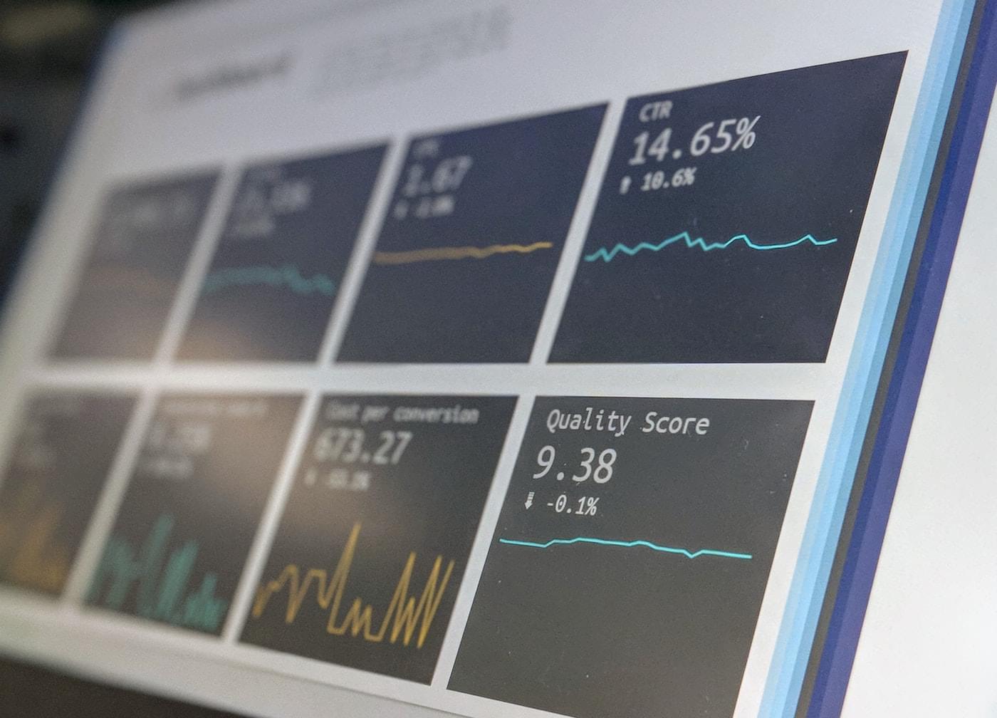 Computer screen showing enterprise SEO tools.