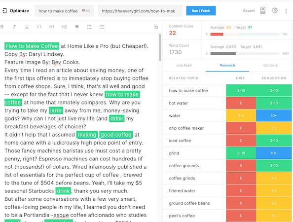 MarketMuse Content Optimizer.