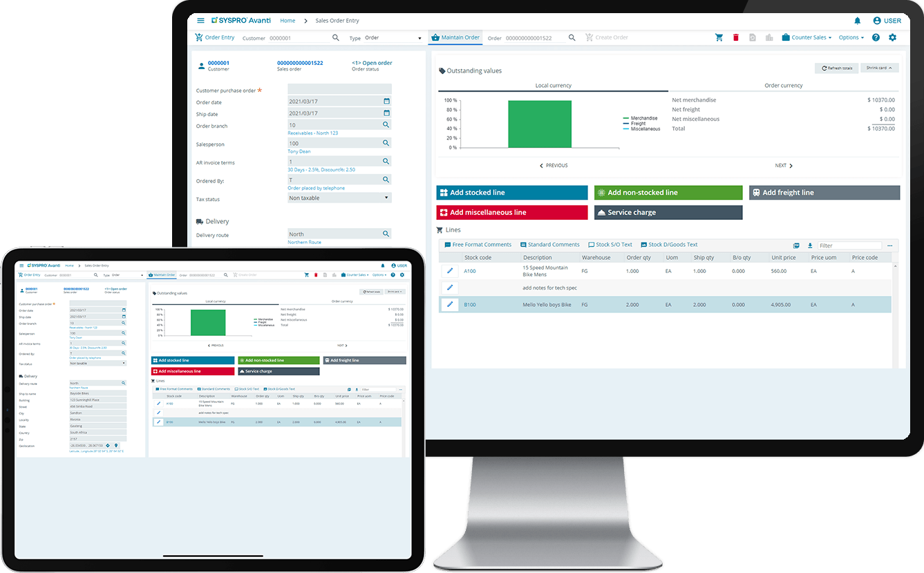 SYSPRO ERP budgeting.