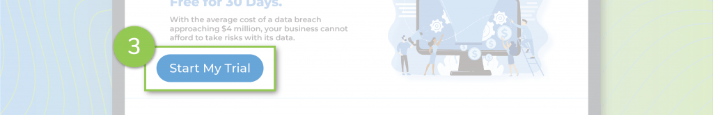 A compelling call to action on a landing page.